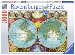 Puzzle Harta Antica, 3000 Piese