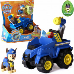 PAW PATROL CHASE VEHICLE + FIGURINA + DINO