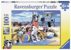 Puzzle Catelusi Pe Plaja, 100 Piese