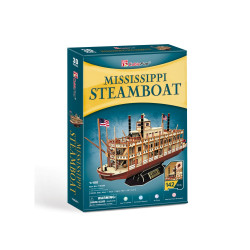 PUZZLE 3D NAVA MISSISSIPPI STEAMBOAT USA 142 PIESE
