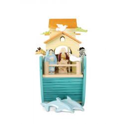 Set Arca lui Noe din lemn