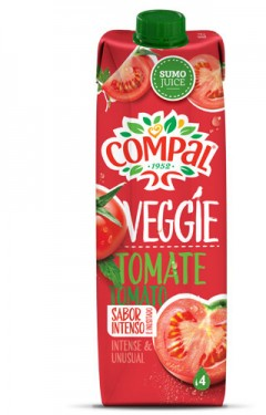 """""""Compal"""" Veggie Tomate - Pack 4 x 100cl"""