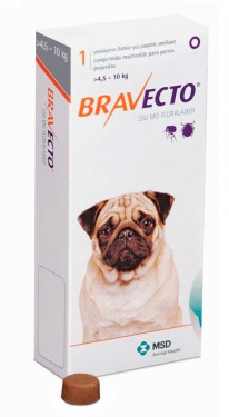 Imagens Bravecto Flea and Tick Protection 5 - 10kg (9.9 - 22lbs) 1 chew - free shipping