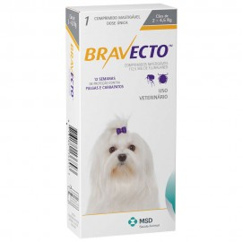 Imagens Bravecto Flea and Tick Protection 2 - 4.5kg (4.4 - 9.9 lbs) 1 chew - free shipping