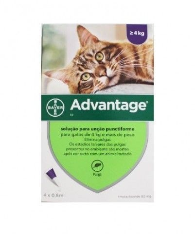 Imagens Pack 4 Bayer Advantage 80 Cat over 4kg - free shipping