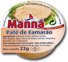 """Paté de Camarão """"Manná"""" - PACK 24 un x 22gr"""