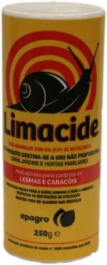 Imagens LIMACIDE 250gr  - SLUG AND SNAIL BAIT FOR THE ELIMINATION OF SLUGS AND SNAILS