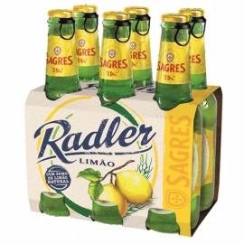 """Cerveja """"Sagres"""" Radler Limão - Pack 6x33cl"""