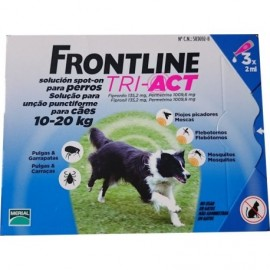 Imagens FRONTLINE TRI - ACT For Dogs 10kg - 20kg 3 pipettes - free shipping