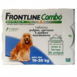 Imagens FRONTLINE Combo For Dogs 10kg - 20kg 3 pipettes - free shipping