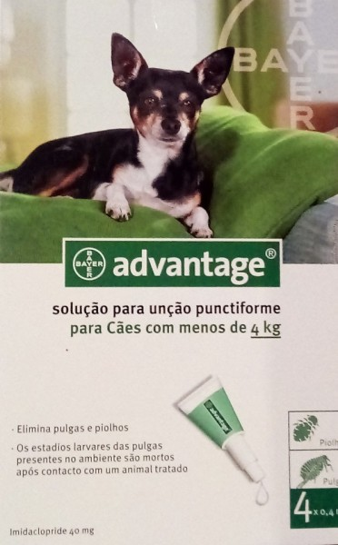 Imagens Pack 4 Bayer Advantage 40 Dog less 4Kg- free shipping