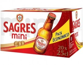 """Cerveja """"Sagres"""" Mini - Pack 20x25cl"""