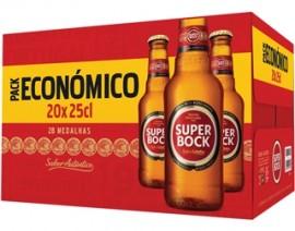 """Cerveja """"Super Bock"""" Mini - Pack 20x25cl"""