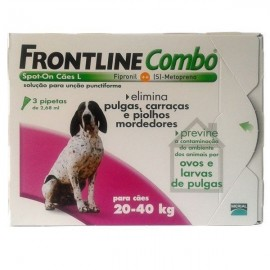 Imagens FRONTLINE Combo For Dogs 20kg - 40kg 3 pipettes - free shipping