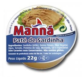 """Paté de Sardinhas """"Manná"""" - 24 un x 22gr"""