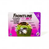 FRONTLINE TRI - ACT for Dogs 2kg - 5kg 3 pipettes - free shipping