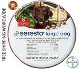 Flea and Tick Protection Bayer Seresto Collar for Large Dogs Above 18lbs (8kg) - 8 Months Protection - FREE SHIPPING WORLDWIDE