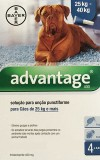 Pack 4 Bayer Advantage 400 Extra Large Dog 25Kg - 40Kg- free shipping