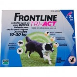 FRONTLINE TRI - ACT For Dogs 10kg - 20kg 3 pipettes - free shipping