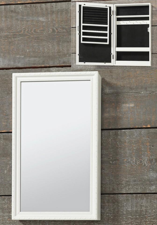 Oglinda Caseta De Bijuterii Perete Dormitor Alb