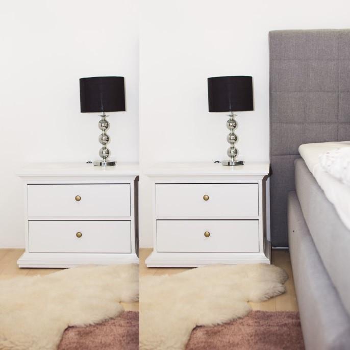 Set Noptiere Albe Sertare Dormitor - 7461
