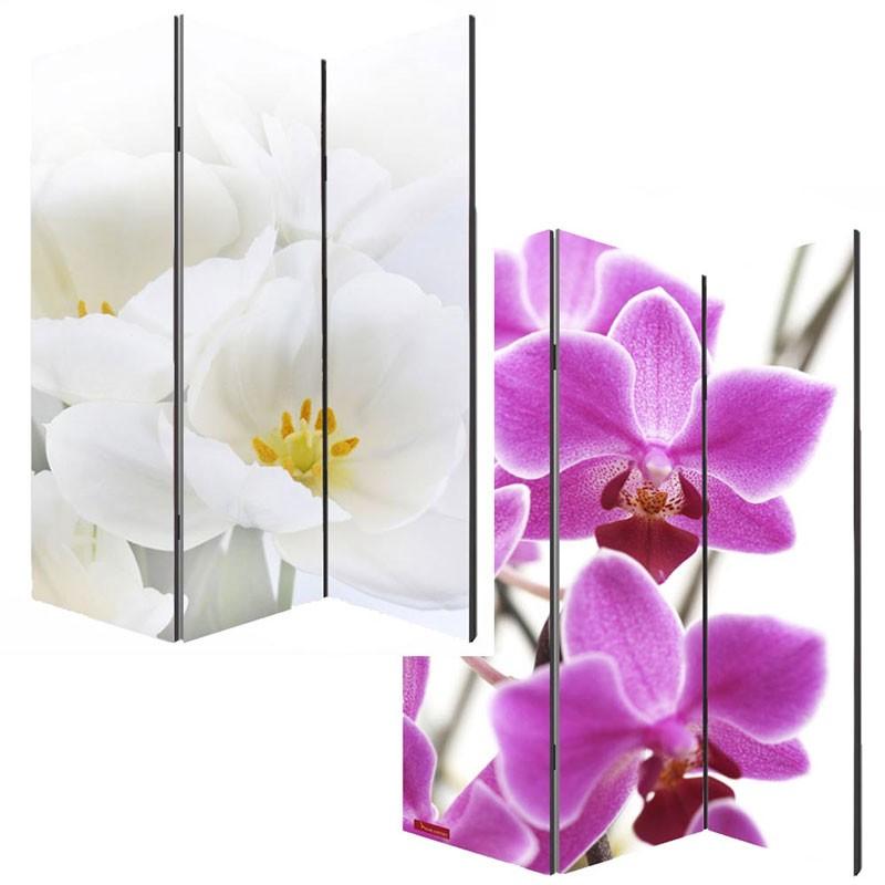 Par1 - Paravan Despartitor Imprimat - Ambele Parti  Gama Orhidee