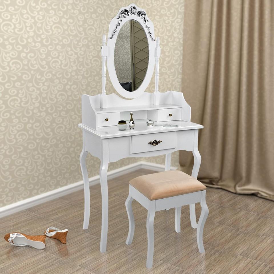SEA328 – Set Masa alba toaleta cosmetica machiaj oglinda masuta vanity de la eMobili