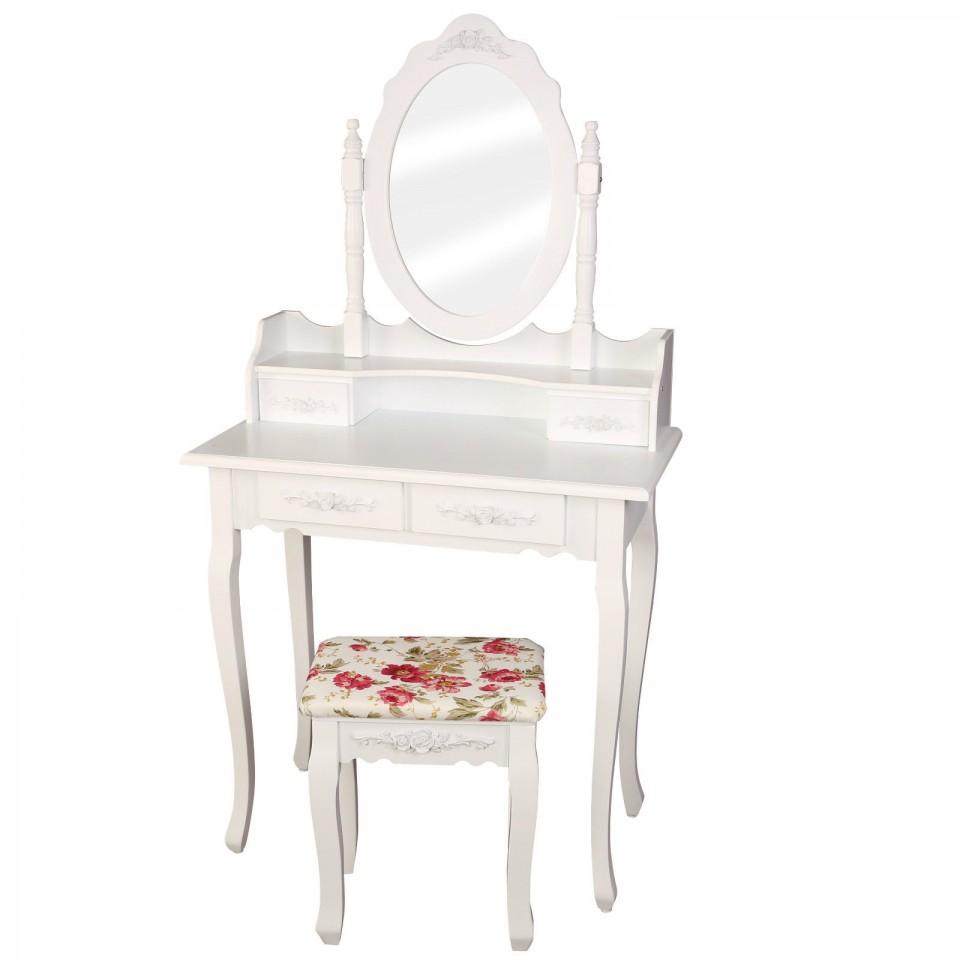 SEA323 - Set Masa alba toaleta cosmetica machiaj oglinda masuta vanity