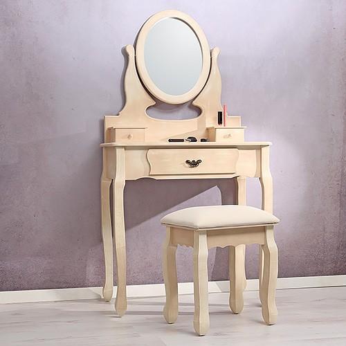 Sec2 - Set Masa Toaleta Crem Cosmetica Machiaj Oglinda Masuta Vanity