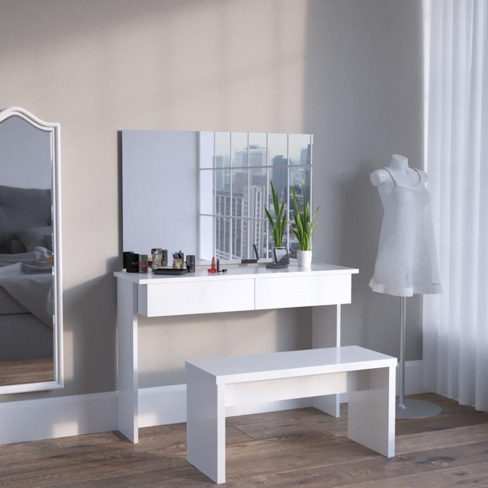 Set Masa Alba Toaleta Moderna Cosmetica Machiaj Og