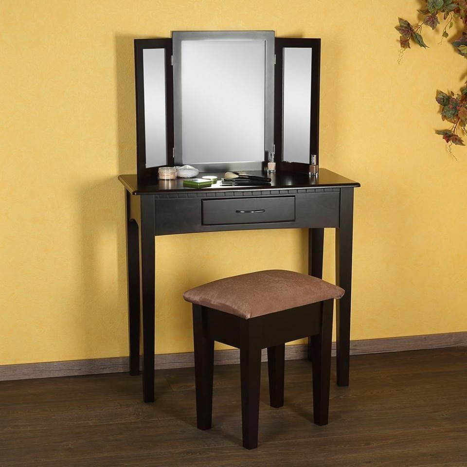 sen5 masa maro toaleta cosmetica machiaj cu oglinda masuta vanity. Black Bedroom Furniture Sets. Home Design Ideas
