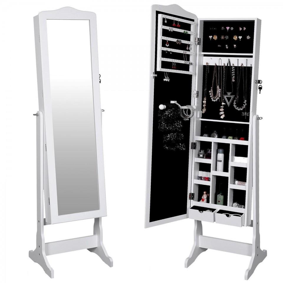 oga108 oglinda caseta de bijuterii dulap dulapior cu picioare dormitor dressing alb. Black Bedroom Furniture Sets. Home Design Ideas