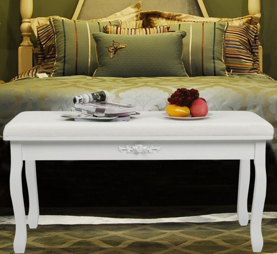 Baa101 - Banca Pentru Pat/pian Dormitor - Alb