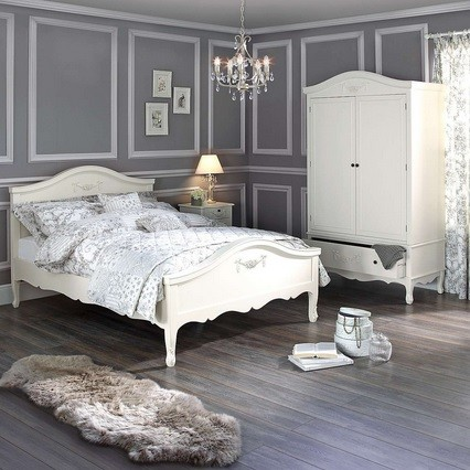 Dulap Sifonier Dormitor Cu 1 Sertar Alb