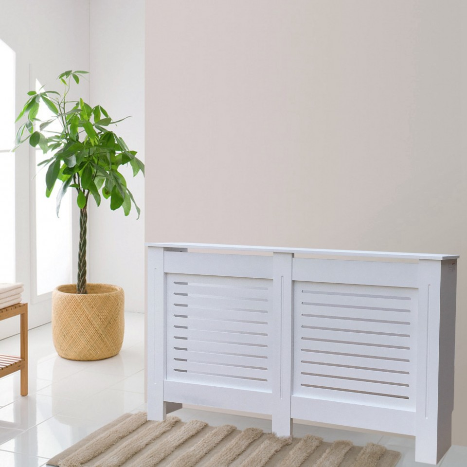 Masca Calorifer Protectie Radiator Alba Medie Imagine