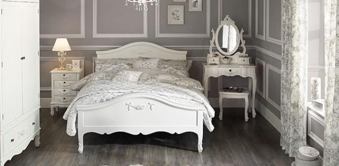 Pat Alb Lux Dormitor  Pentru Somn Linistit