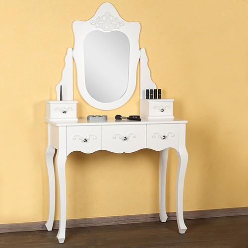 Masa Toaleta Oglinda Cosmetica Machiaj Table Alb Mese Toaleta Ilustratie
