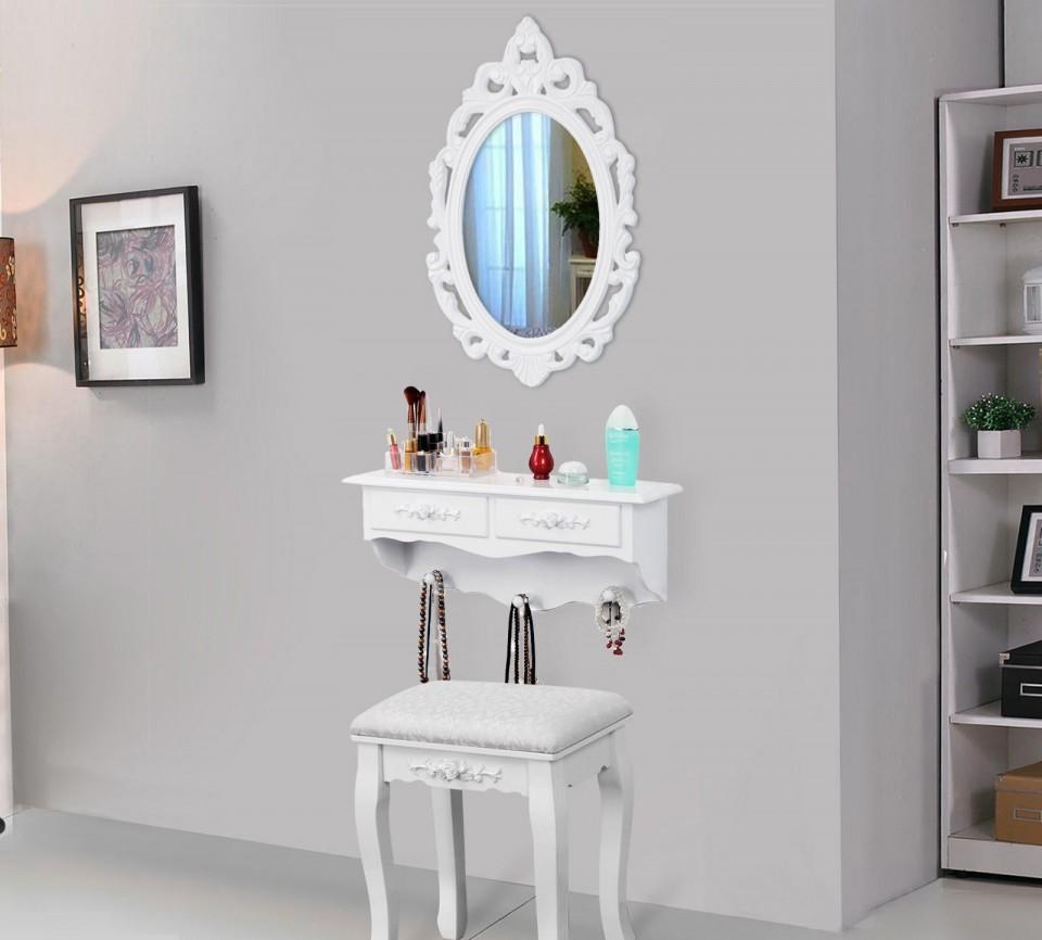 Set Oglinda Raft Scaun Toaleta Cosmetica Machiaj Vanity
