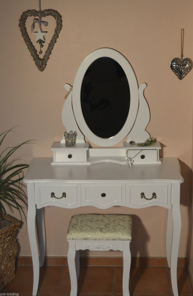 SEA213 – Set Masa alba toaleta cosmetica machiaj oglinda masuta vanity de la eMobili