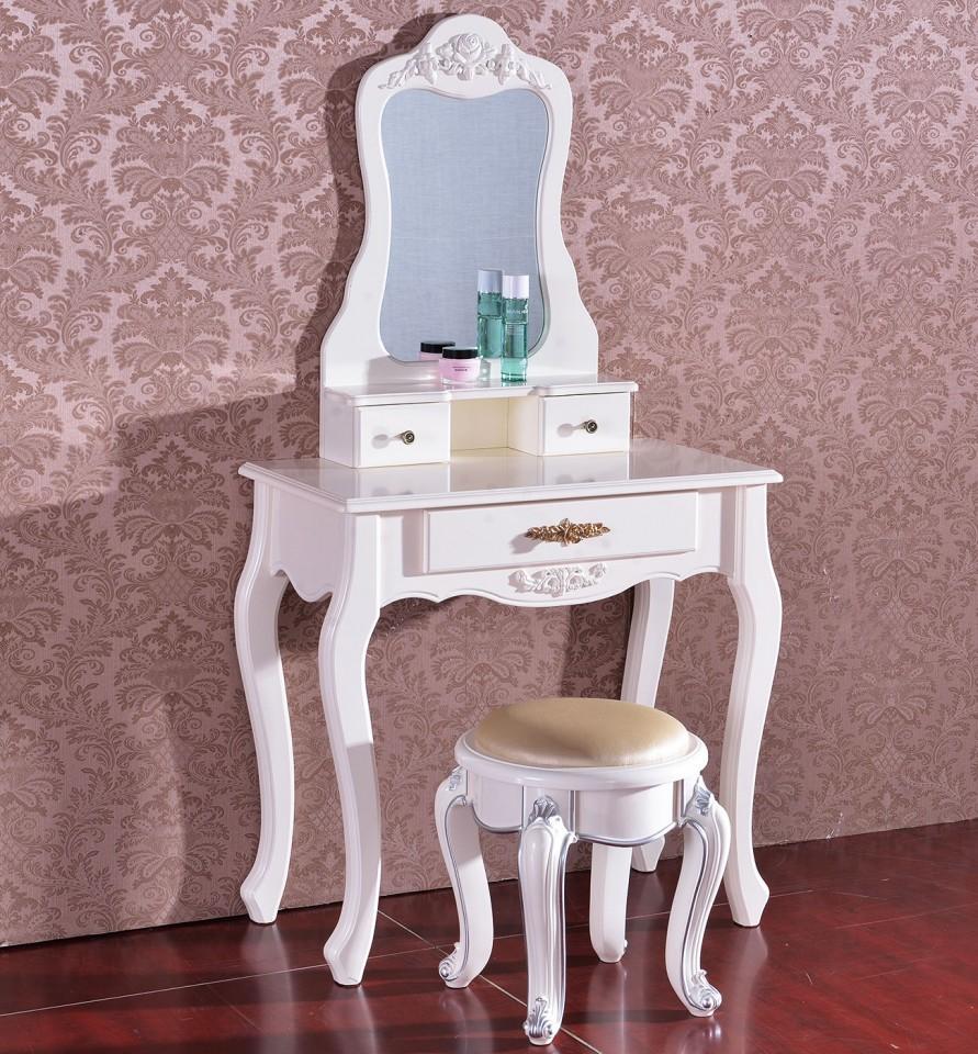 SEA215 – Set Masa alba toaleta cosmetica machiaj oglinda masuta vanity de la eMobili