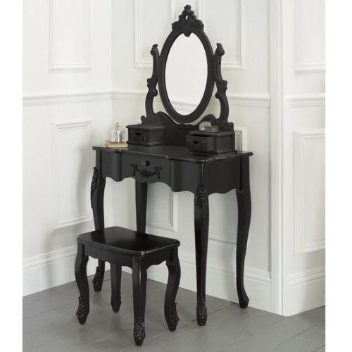 SEN52 - Set Masa Neagra toaleta cosmetica machiaj oglinda masuta