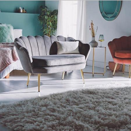 BAG106 - Canapea 132 cm, divan, fotoliu, sofa, bancheta, bancuta, banca hol - Gri