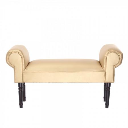 BAN213 - Divan, Canapea, fotoliu, sofa, bancheta, bancuta, banca living, dormitor, hol: Auriu