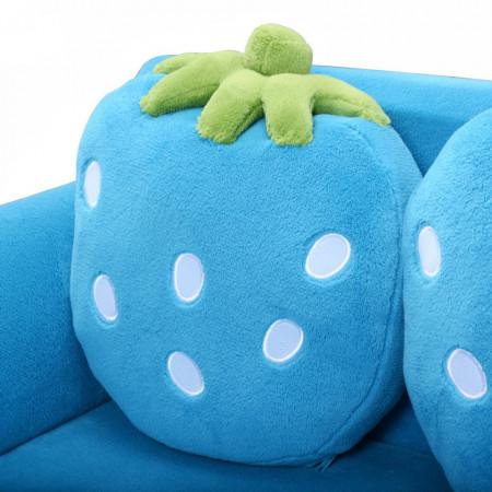 CAAL201 - Mini canapea, divan Copii - Albastru sau Roz