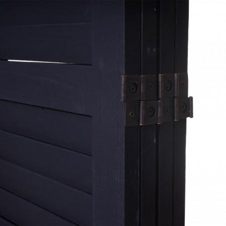 PAR205 - Paravan despartitor lemn Gri inchis- 4, 5, 6 panouri
