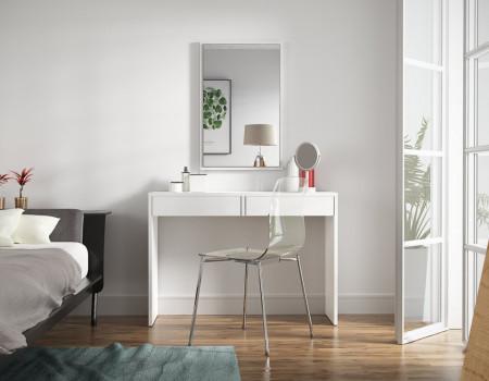 SEA511 - Masa alba sau neagra toaleta cosmetica machiaj masuta vanity birou, consola, birou