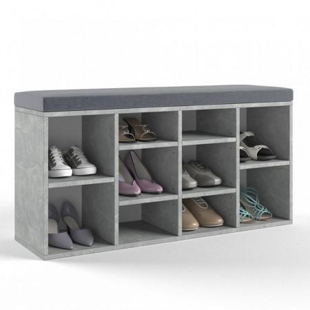 BAG205 - Banca, suport pantofi, patofar pentru Hol - Gri