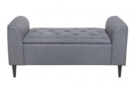 BAG207 - Divan, Canapea, fotoliu, sofa, bancheta, bancuta, banca living, dormitor, hol, lada depozitare - Gri