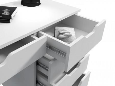 BIA507 - Masa de Birou 110 cm, office - Alb