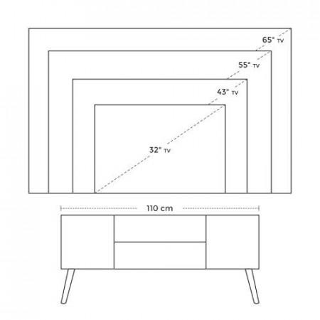COTVI1 - Comoda TV 110 cm, living industrial - Maro